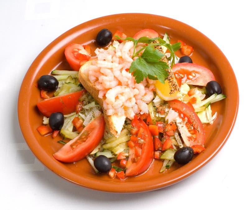 Salade de crevette photo libre de droits