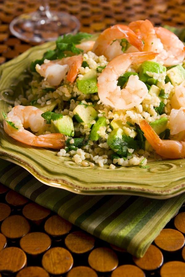 Salade de crevette de bulgur images libres de droits