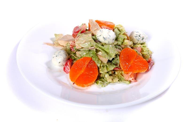 Salade de dinde, de fromage de chou de napa et blanc et de mandarines photos libres de droits