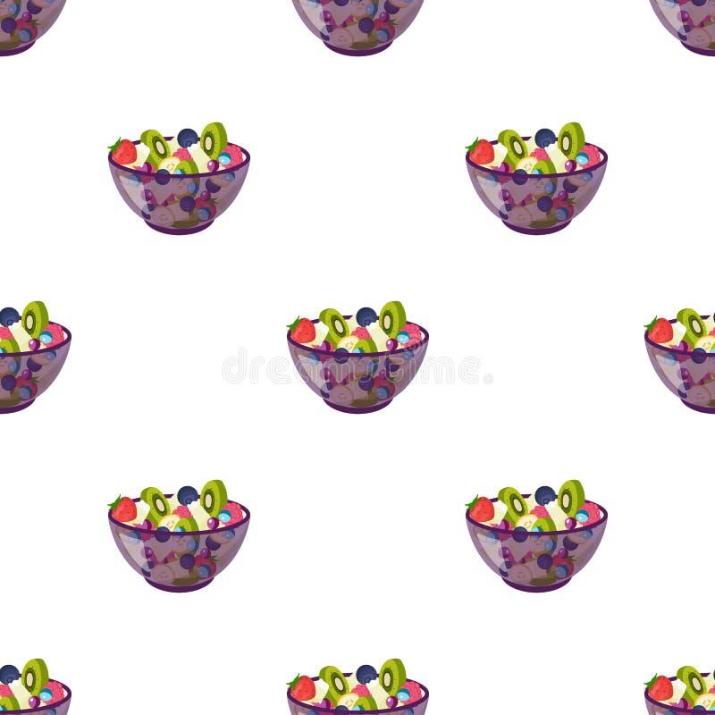 Salade de divers genres de fruit illustration de vecteur