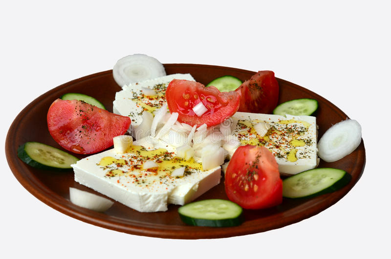 Salade 1 de feta photographie stock libre de droits