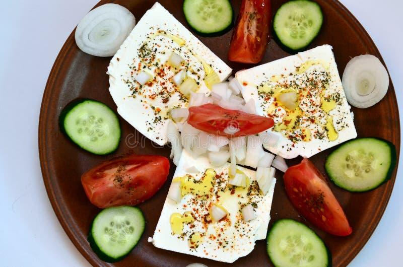 Salade 4 de feta photo stock