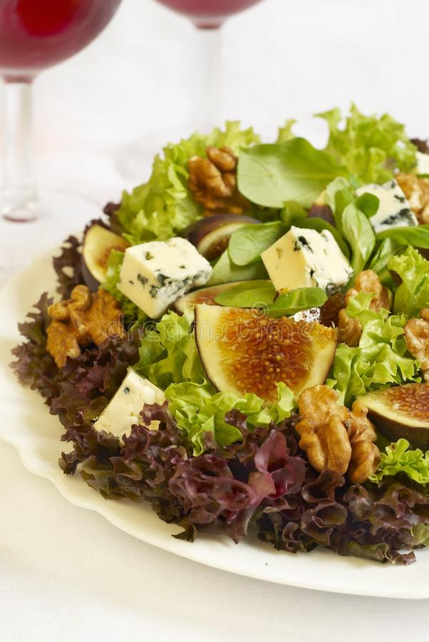 Salade de figue images libres de droits