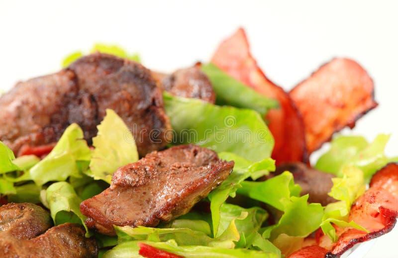 Salade de foie de poulet image libre de droits
