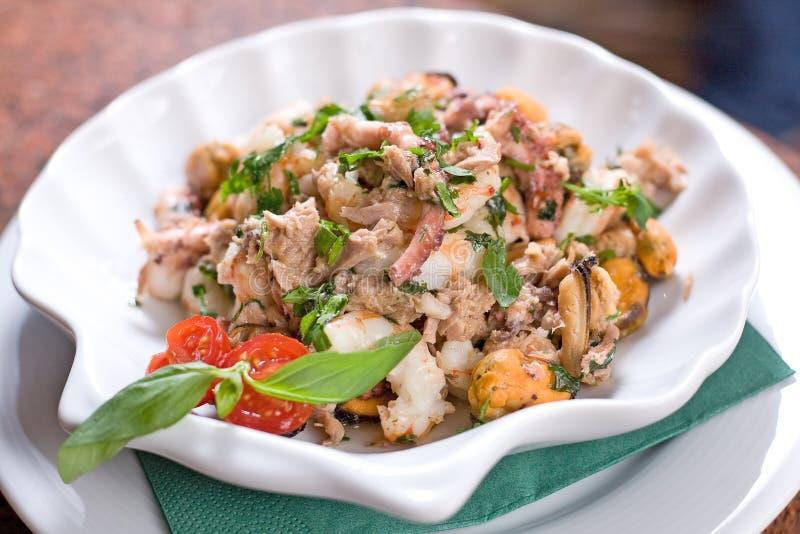 Salade de fruits de mer photographie stock libre de droits