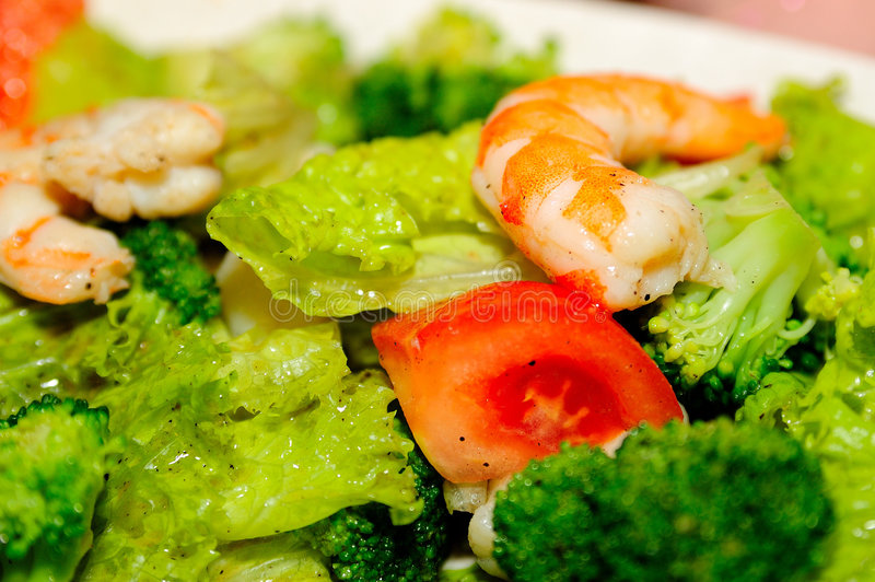 Salade de fruits de mer photos stock