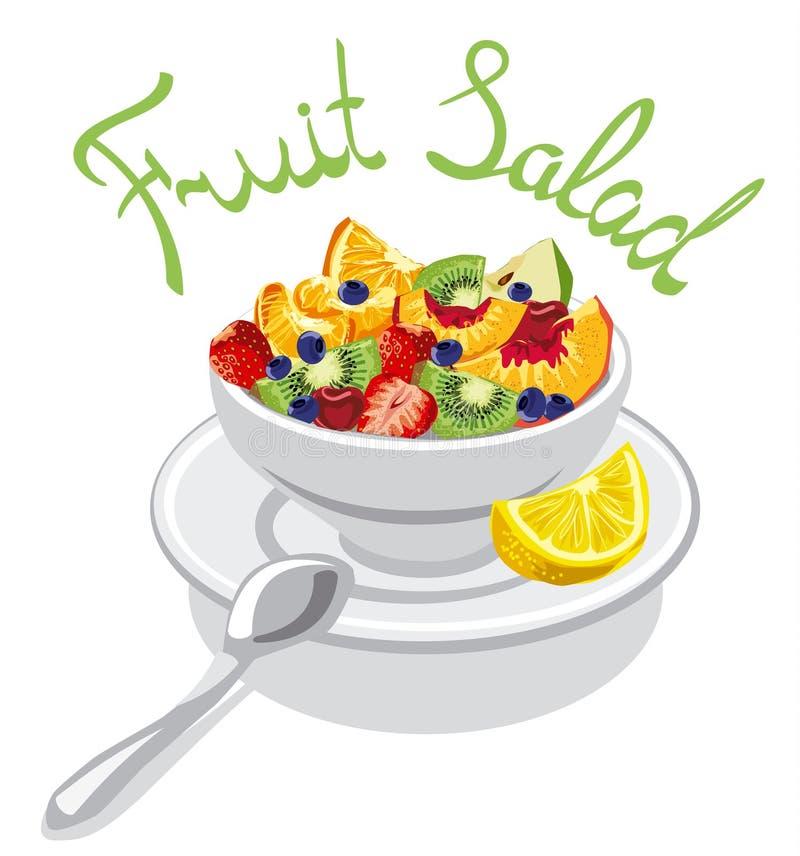 Salade de fruits fraîche illustration libre de droits