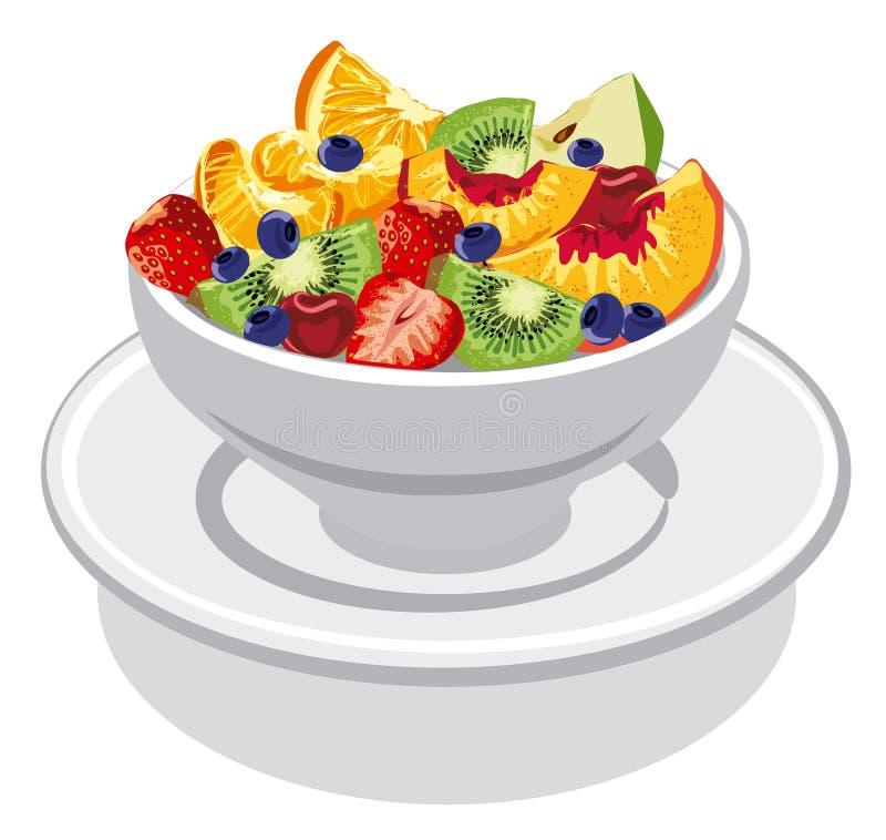 Salade de fruits fra?che illustration de vecteur