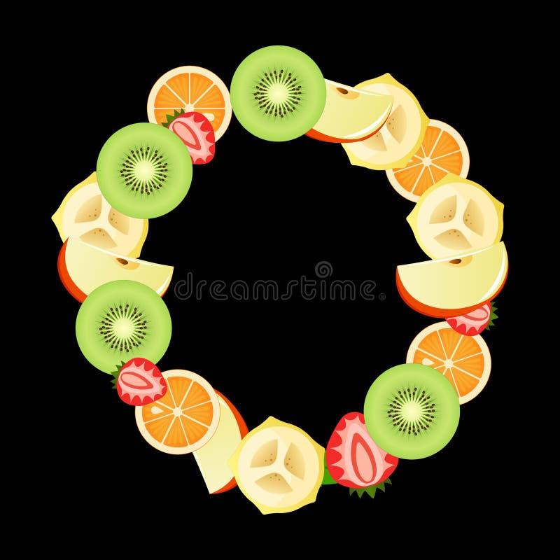 Salade de fruits mélangée illustration libre de droits