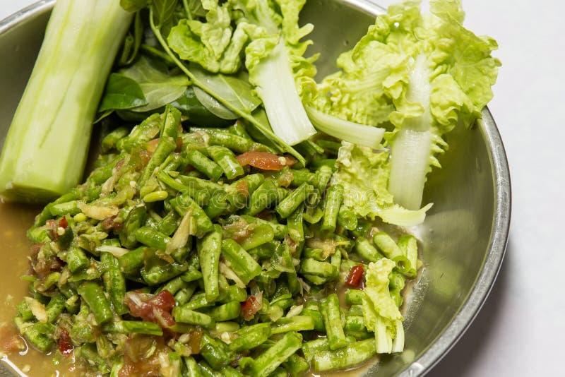 Salade de haricot de Yardlong image stock