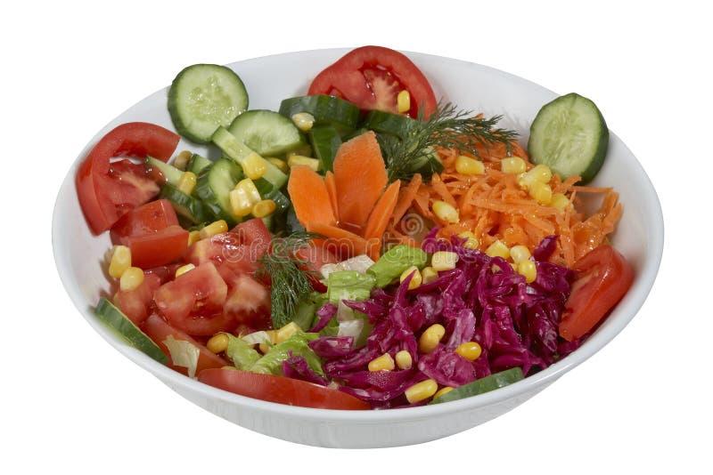 Salade de légume frais d'isolement sur un fond blanc image stock