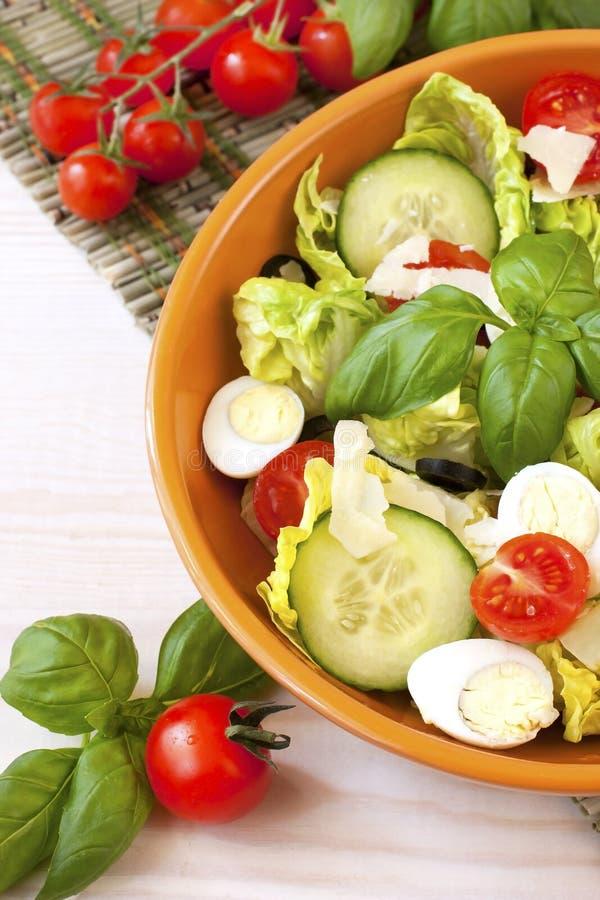 Salade de légume frais de plaque photo libre de droits