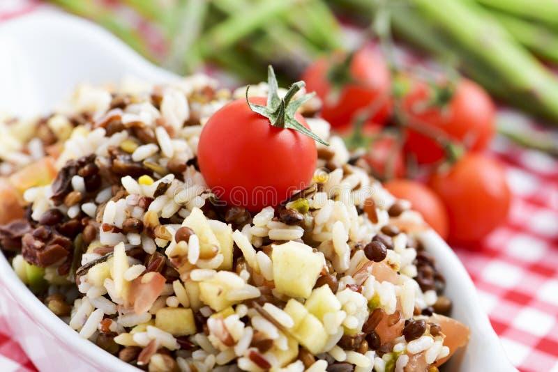 Salade de lentille et de riz photos libres de droits