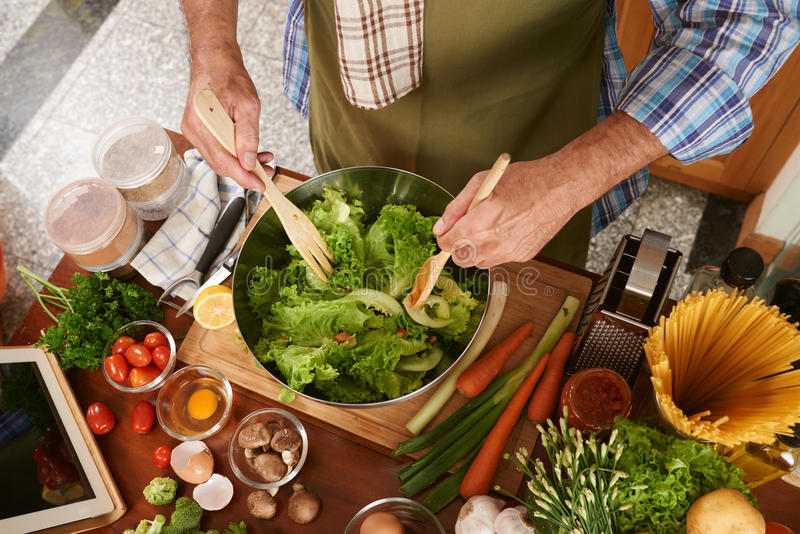 Salade de mélange photo stock