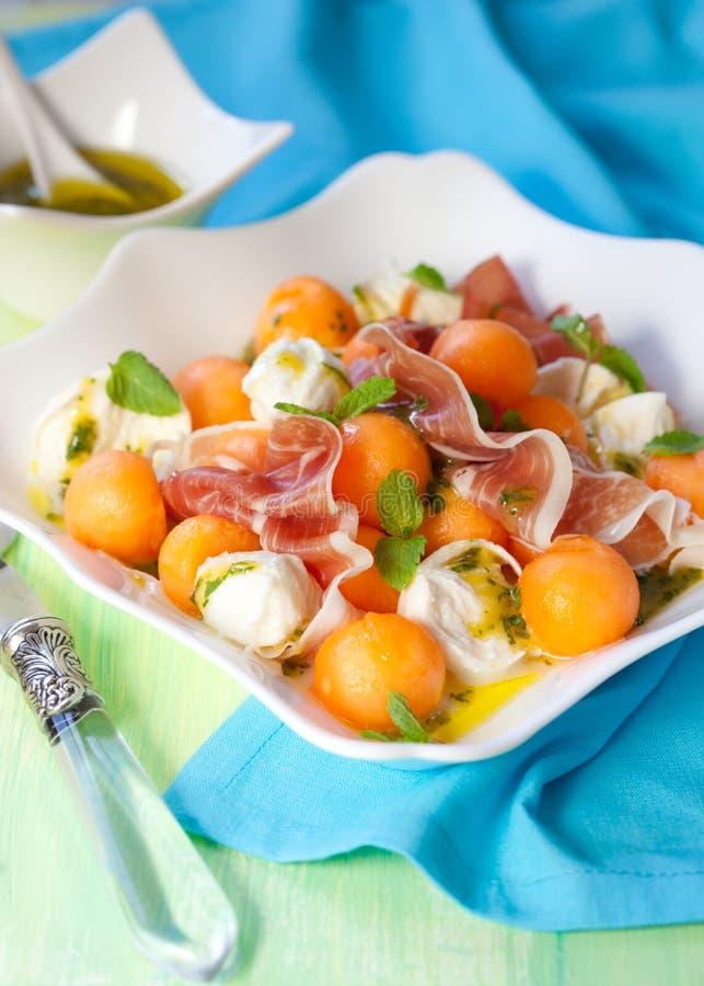 Salade de melon image stock