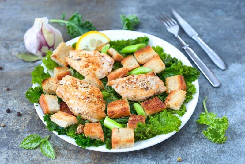 Salade de miette de pain photographie stock libre de droits