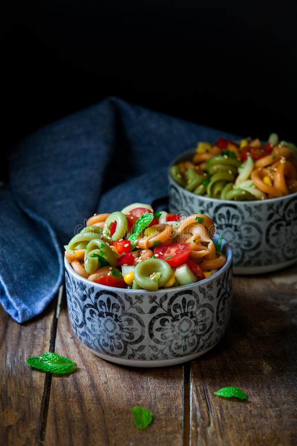 Salade de p?tes italienne photos stock