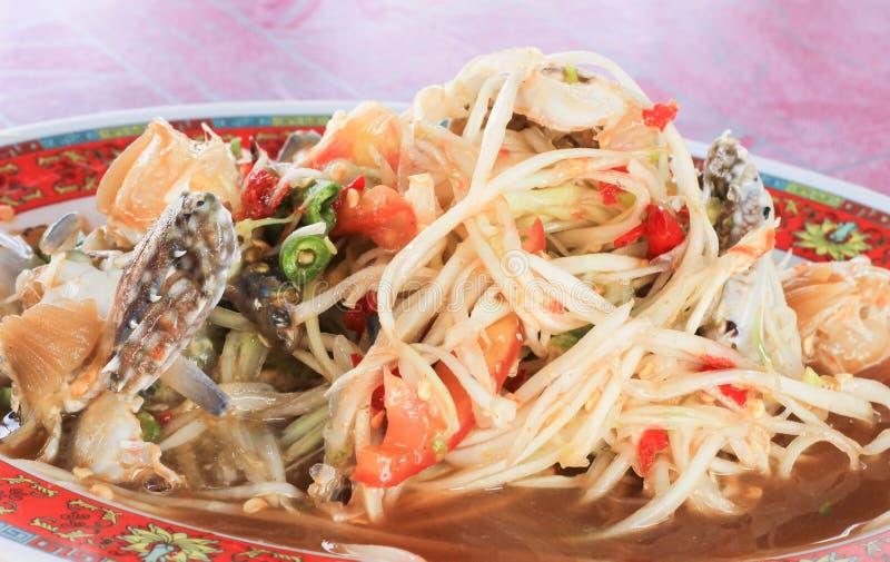 Salade de papaye som tam nourriture tha landaise - Cuisine thailandaise traditionnelle ...
