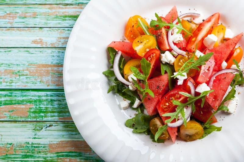 Salade de pastèque image stock