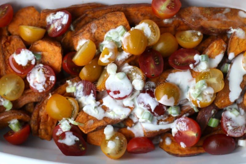 Salade de patate douce photographie stock