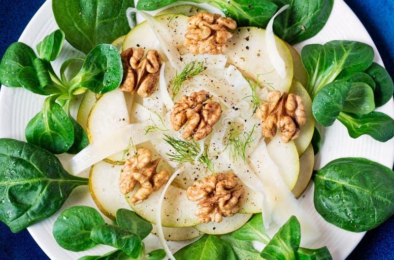 Salade de poire de fenouil image stock
