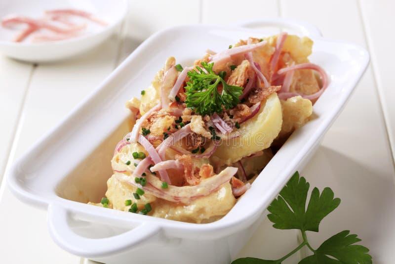 Salade de pomme de terre de moutarde images libres de droits