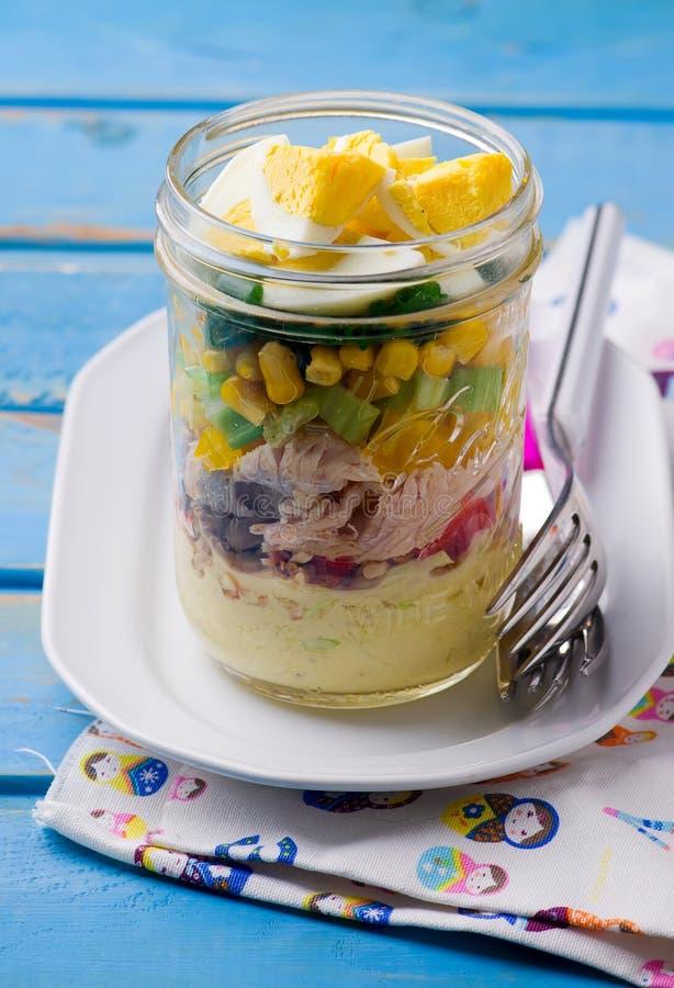 Salade de pot de maison d'été images libres de droits