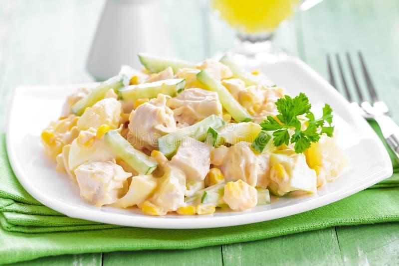Salade de poulet image libre de droits