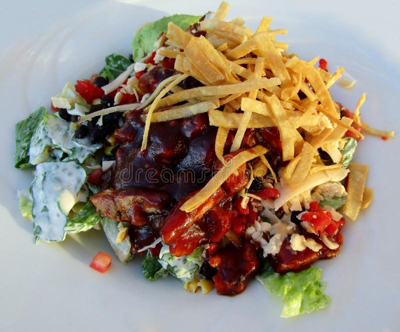 Salade de poulet de BBQ images stock
