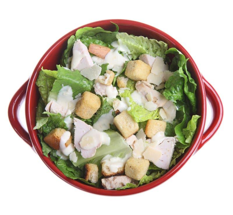 salade de poulet de César images stock