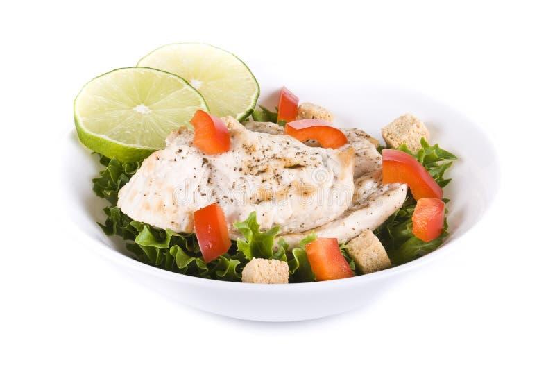 Salade de poulet et de légume photos stock