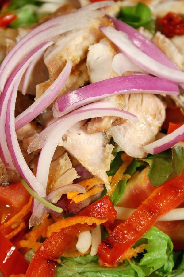 Salade de poulet grillée 2 images stock