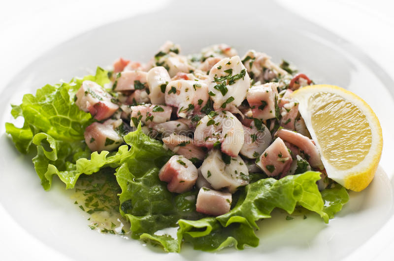 Salade de poulpe photo stock