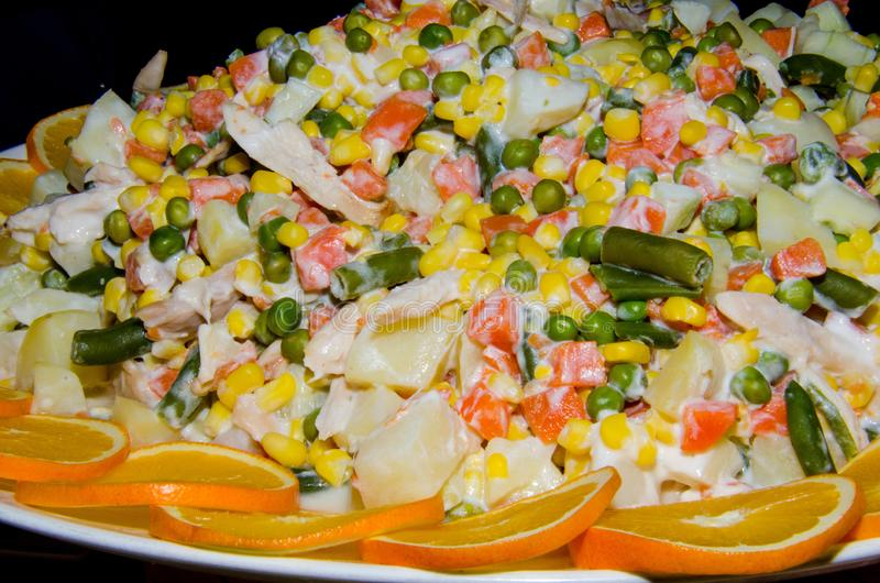 Salade de ressort avec la mayonnaise photos libres de droits