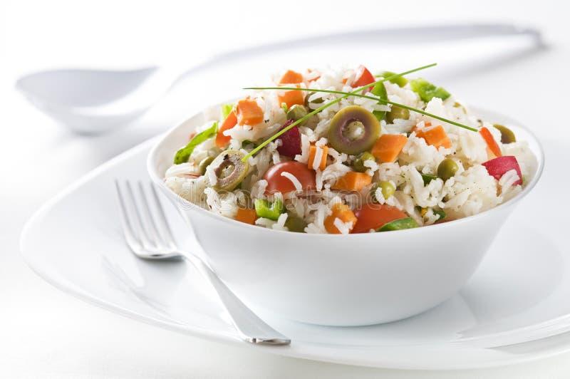 Salade de riz photo stock