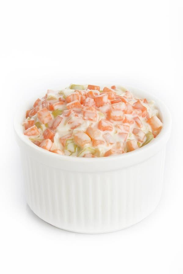 Salade de salade de choux dans la cuvette photos libres de droits