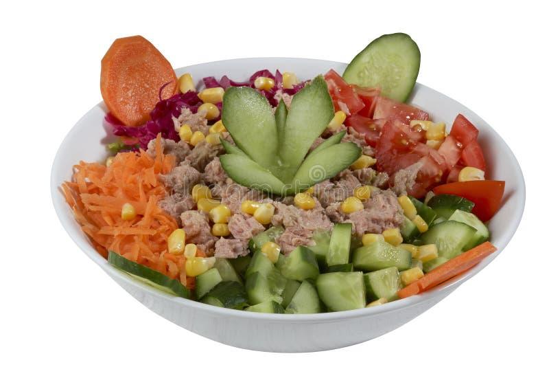 Salade de thon et de légume images libres de droits