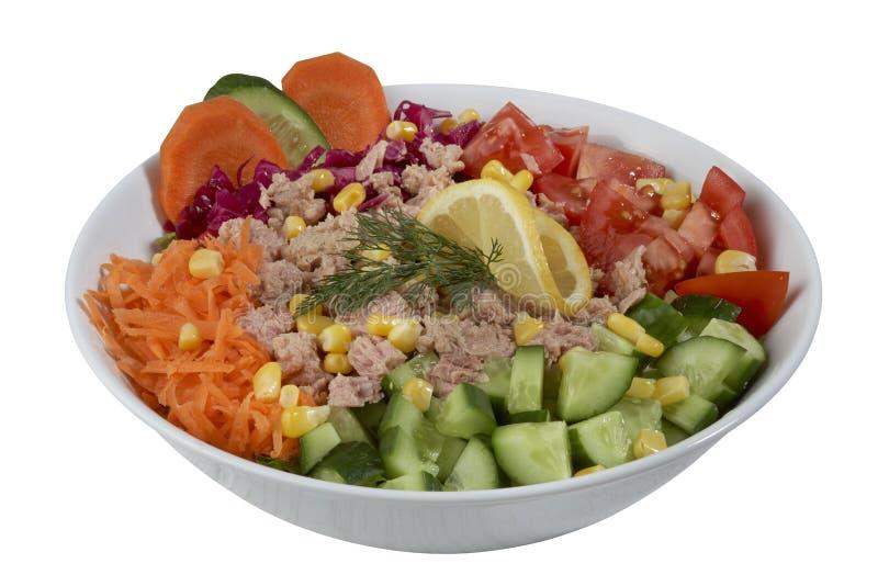 Salade de thon et de légume image libre de droits