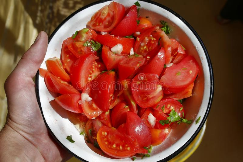 Salade de tomate photo libre de droits