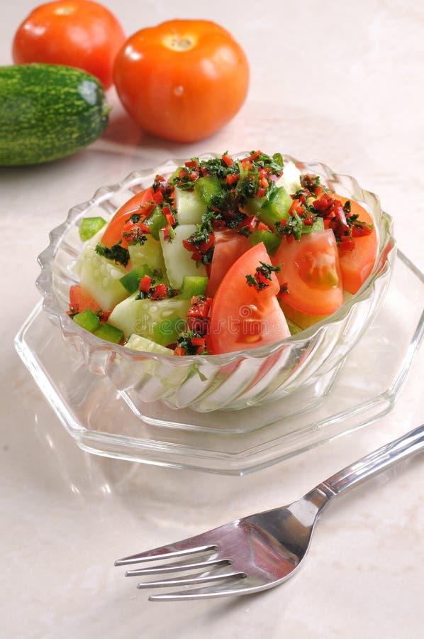 Salade de tomate photographie stock
