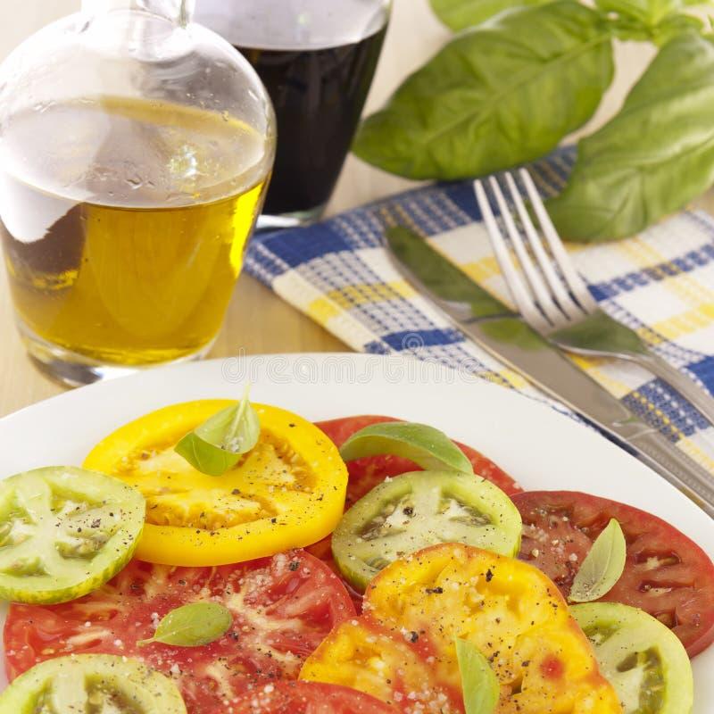 Salade de tomates d'héritage photo libre de droits