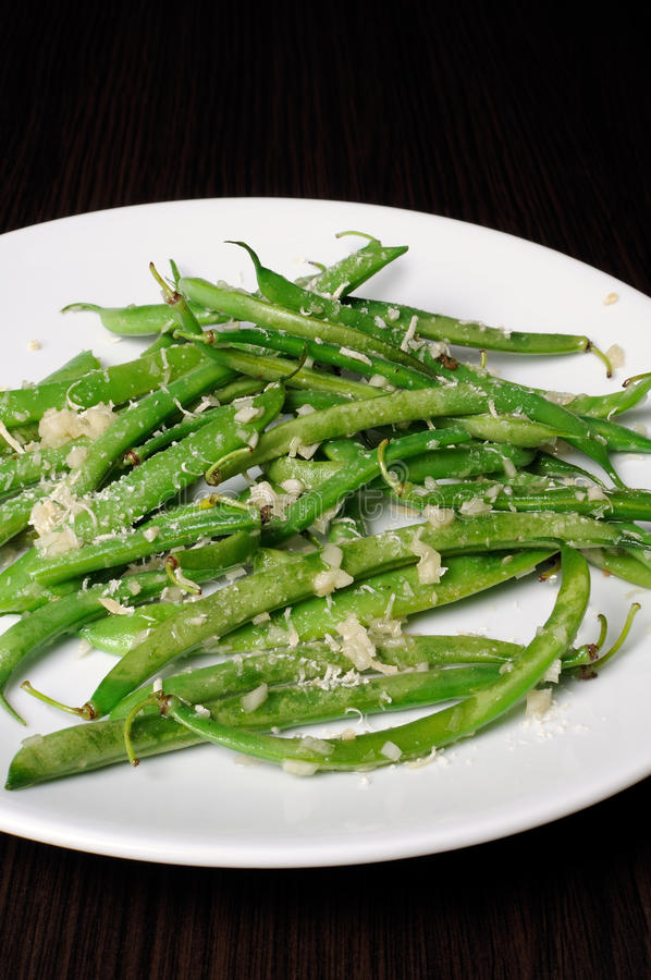 Salade des haricots verts photos stock