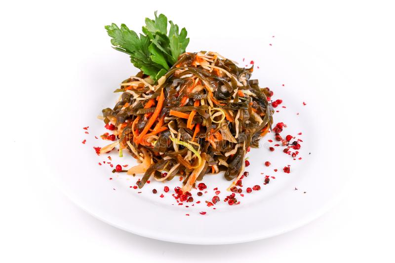 Salade du chou marin et des carottes photographie stock