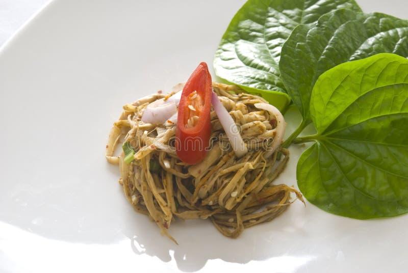 Salade en bambou épicée photo libre de droits
