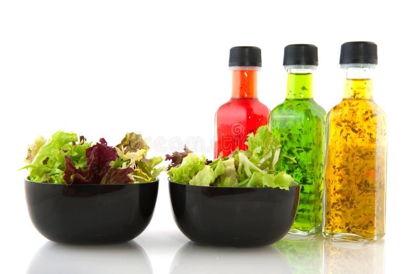 Salade et rectifier photographie stock libre de droits