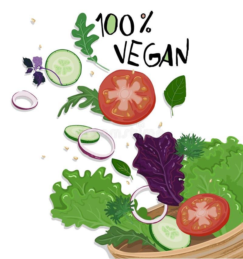 Salade filiżanka obraz stock