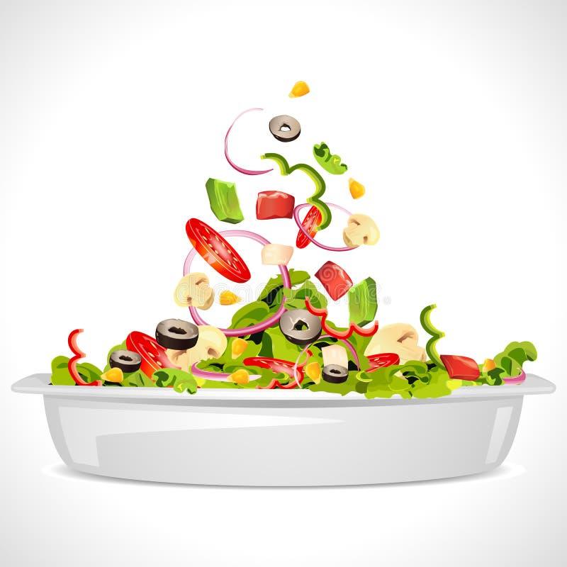 Salade fraîche illustration libre de droits