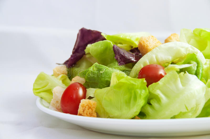 Salade fraîche de jardin photos stock