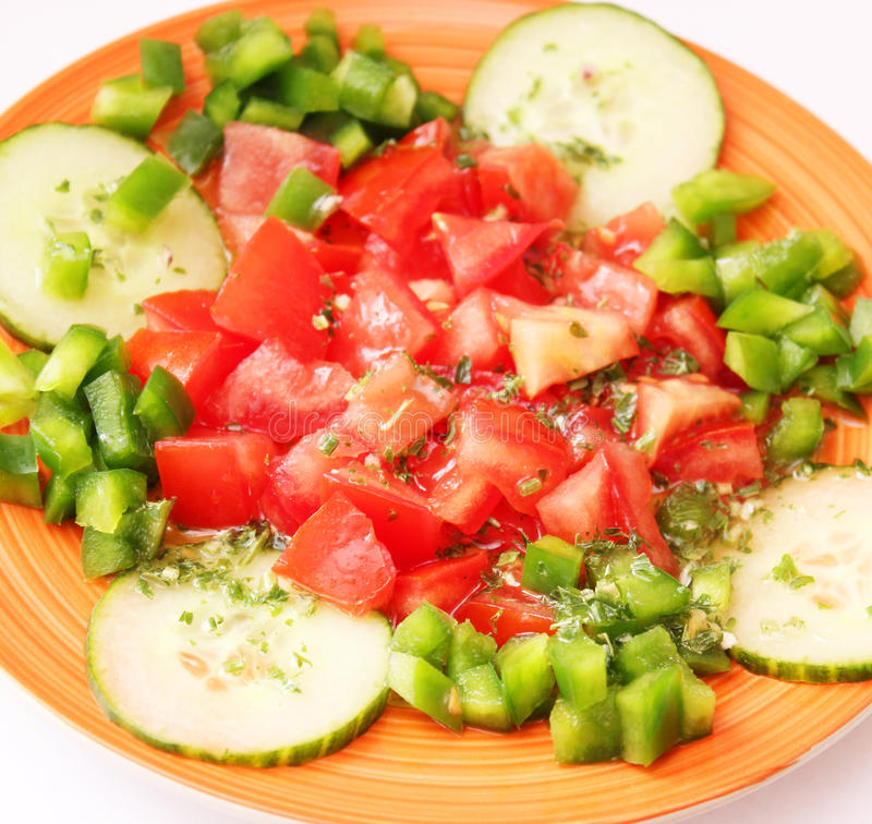 Salade fraîche de tomate images stock