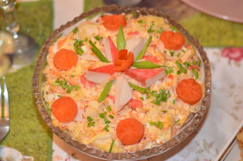 Salade fraîche, vue supérieure Nourriture saine photographie stock